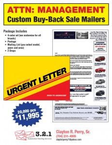 Chrysler Buy Back Letters