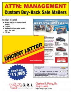Chevrolet Buy Back Mailers