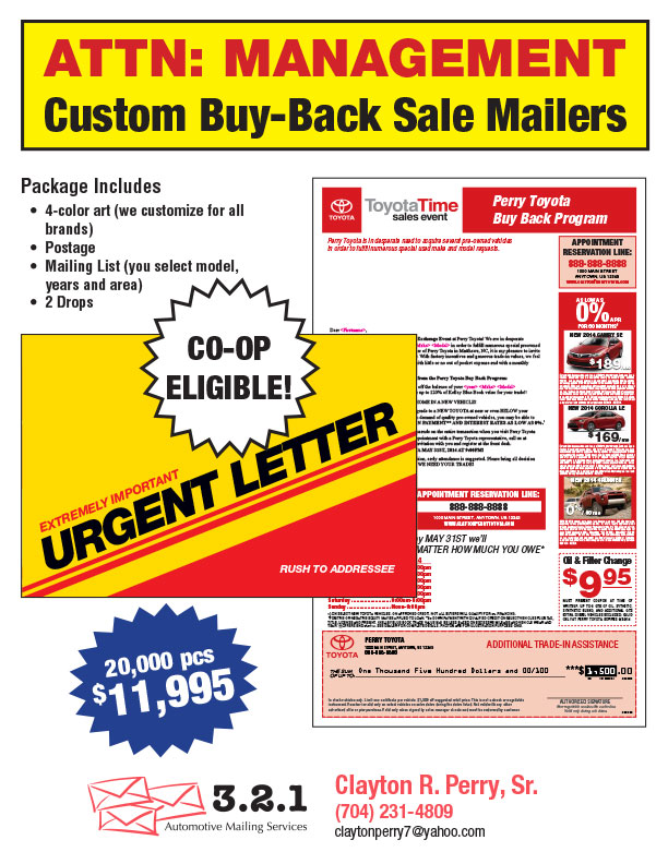 Toyota Buy Back Letters | ABC Mailing Services