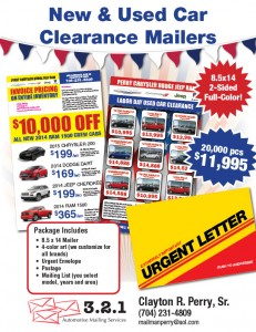 New and Used Clearance Mailers