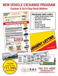 Vehicle Exchange Program Mailers
