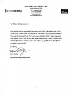 Letter from Dan Marks