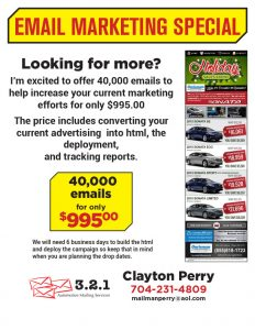 Email Flyer Special