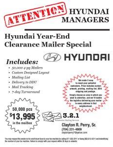 Hyundai Clearance Mailers