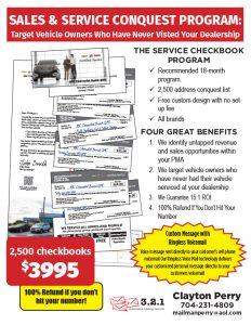 Sales & Service Conquest Program
